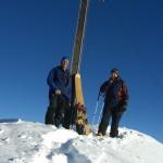 Gipfeltreffen mit handgemachten Holzski
