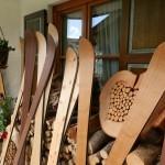 handgefertigte Holzski Auswahl