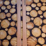 handgemachte Holzski mit individueller Beschriftung