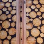 2-farbige Holzski  mit Branding