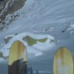 Sciorahütte unter der mächtigen Nordwand des Badile